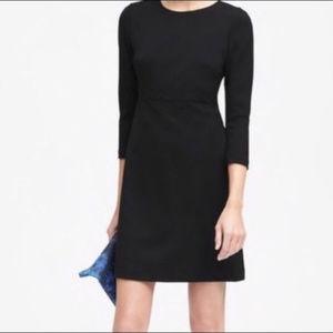 Banana Republic Black Ponte Knit Sheath Dress